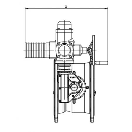 Поворотно-дисковый затвор тип 4510/451 с электроприводом