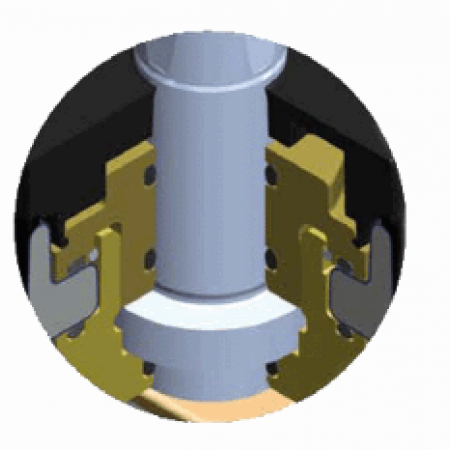 Задвижка с обрезиненным клином тип 3004 с трубными концами из стали под сварку