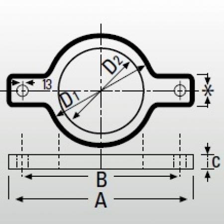 Опорное кольцо Düker MLK-protec