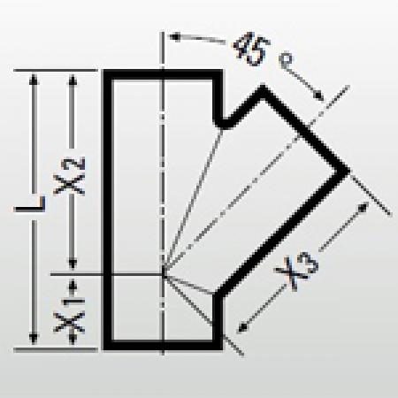 Тройник 45º Düker TML