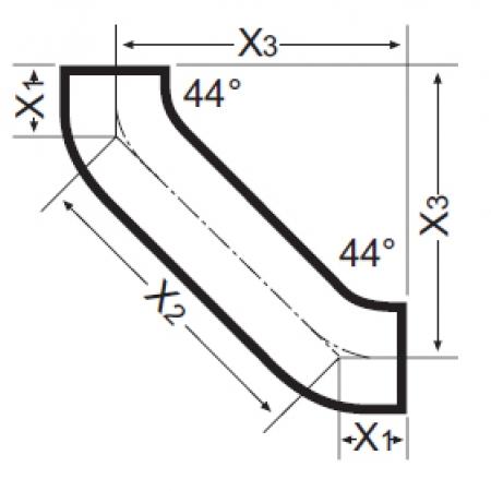 Отвод двойной с успокоительным участком Düker SML