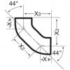 Отвод двойной Düker SML