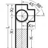 Крестовина угловая с удлиненным участком Düker SML